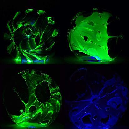 Inner space uranium glass