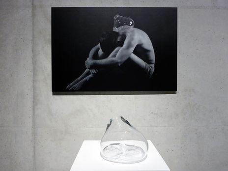 glaskunst, Stijn Wuyts, glaskunstenaar, glasblazen, IKA, Mechelen, glass blowing, aluminiumprint, installation