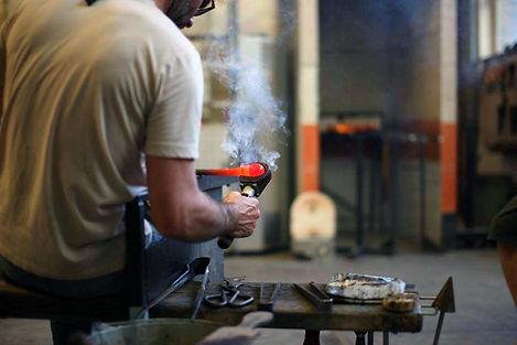 glasblazen, studio IKA, Mechelen, glass blowing, Stijn Wuyts, glaskunstenaar