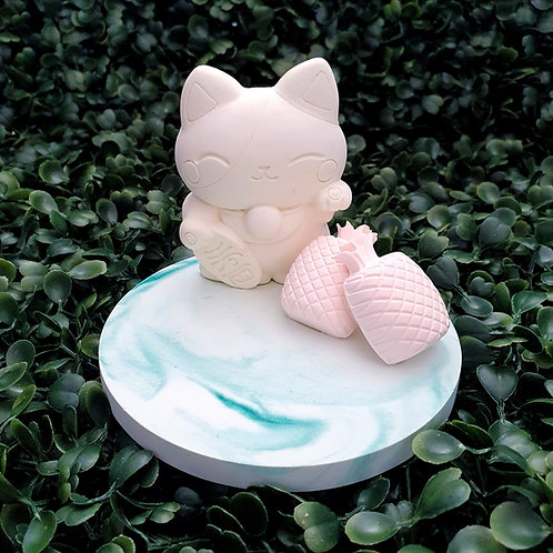 Fortune Cat (Large Plate)