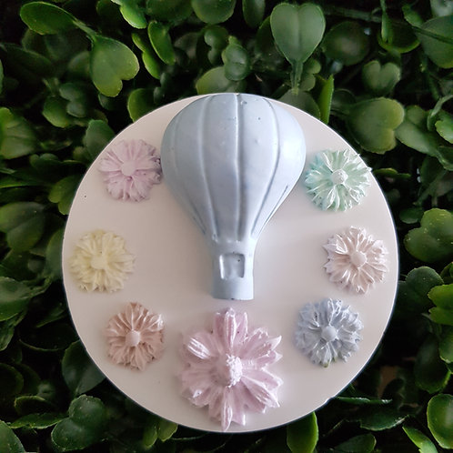 Hot Air Balloon - Ring of Flowers