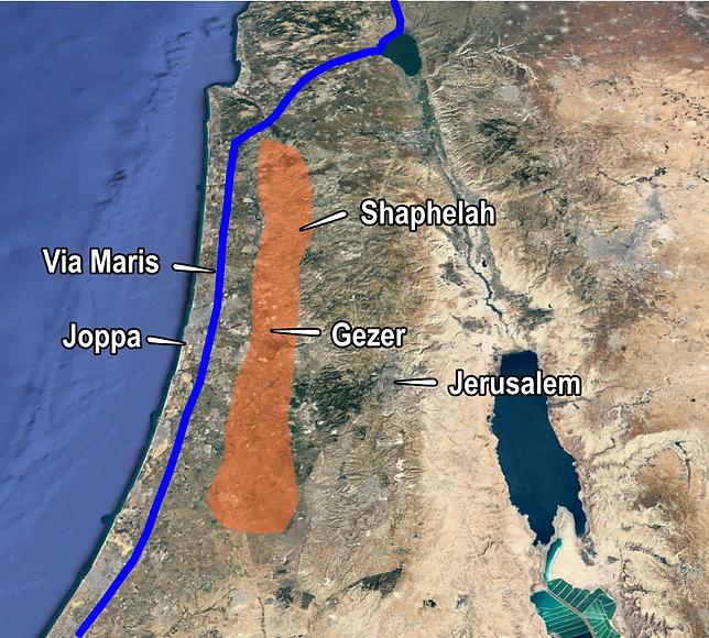 Gezer Shaphelah Via Maris (Medium).png