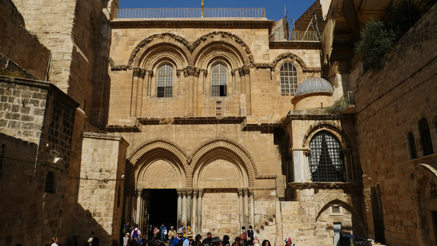 Outside the Church of the Holy Sepulchre