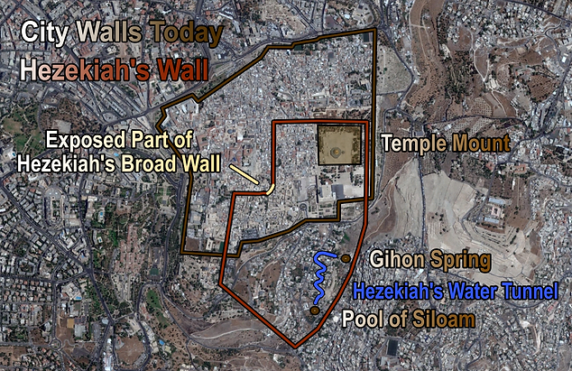 Hezekiah's Broad Wall Map History (Mediu