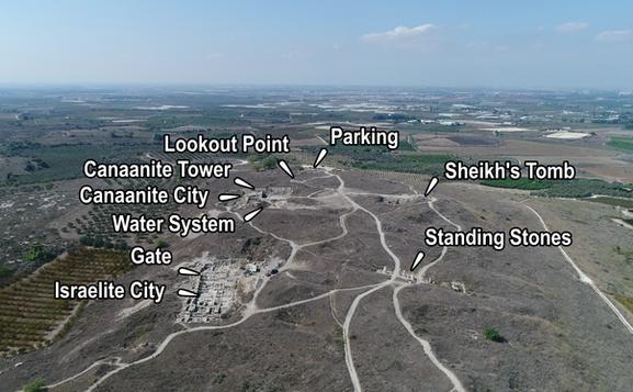 Gezer Places of Interest Closeup (Medium