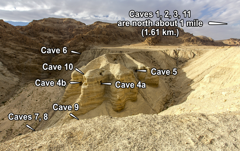 Qumran Cave Locations by Qumran.png