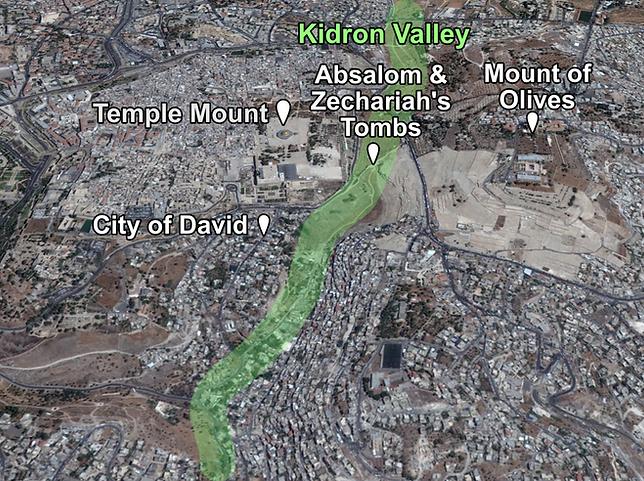 Kidron Valley Places of Interest (Medium