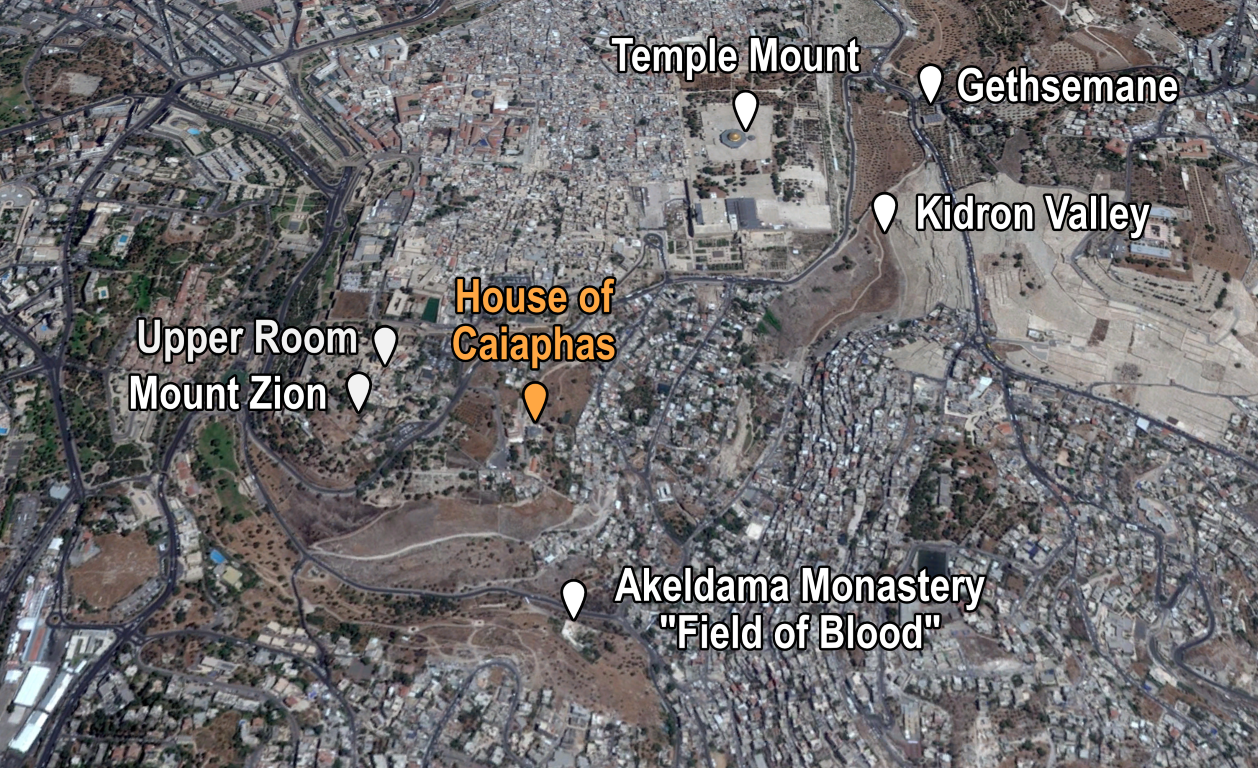 House of Caiaphas Places of Interest (Me