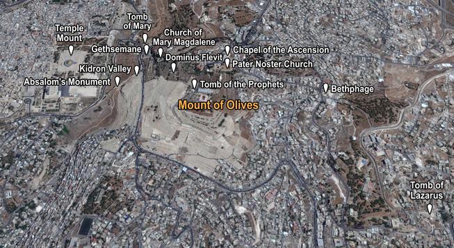 Mount of Olives Places of Interest (Medi