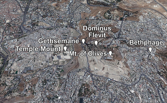Dominus Flevit Places of Interest (Mediu