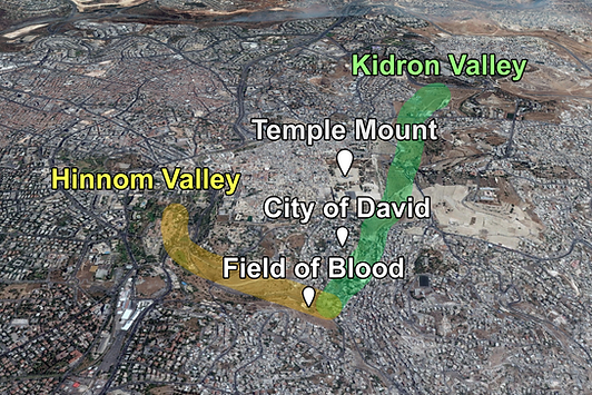 Hinnom Valley Places of Interest (Medium