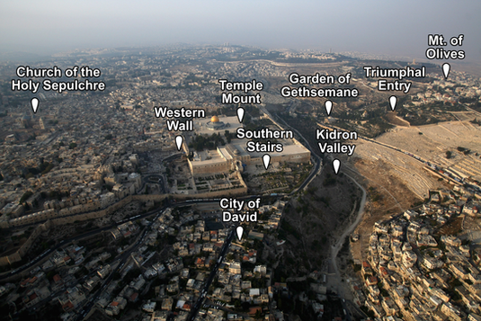 Jerusalem Overview Places of Interest (M