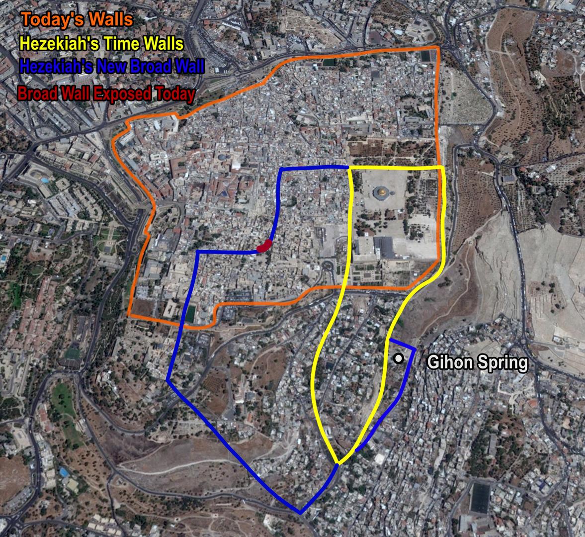 Hezekiah's Broad Wall Map.png
