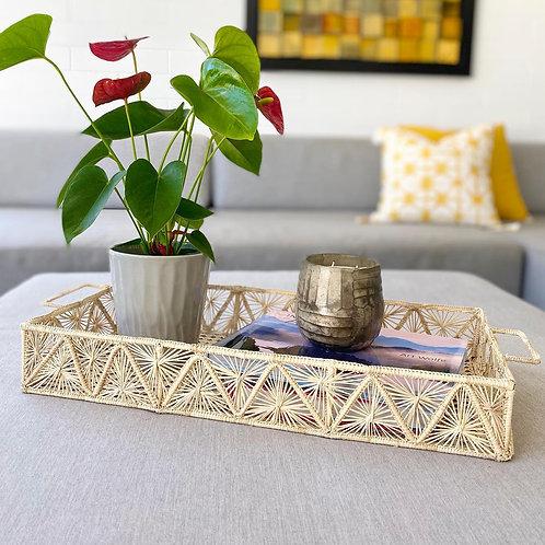 Iraca Rectangular Pyramid Tray