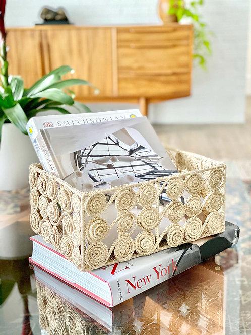 Iraca Caracol Rectangular Basket