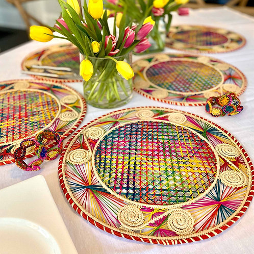 Iraca Caracol Multi-Color Placemat Round