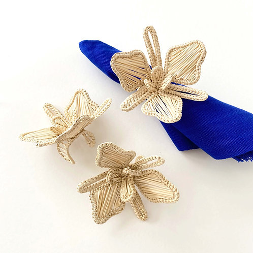 Iraca Orchid Napkin Rings