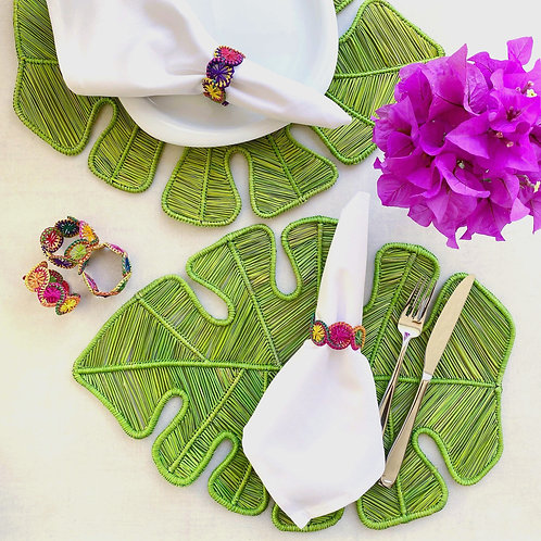 Iraca Leaf Placemat Green