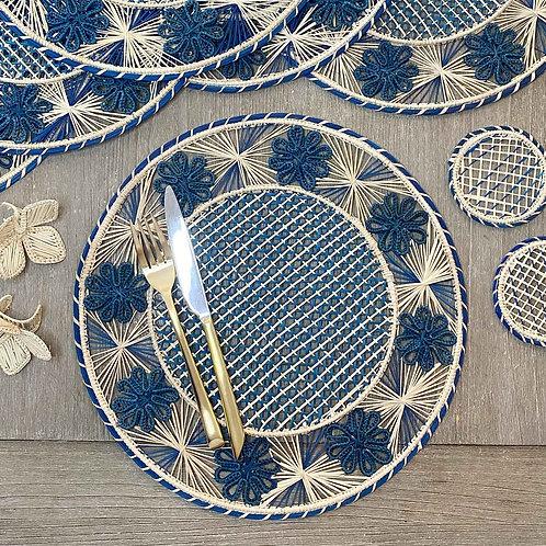 Iraca Flower Blue Placemat