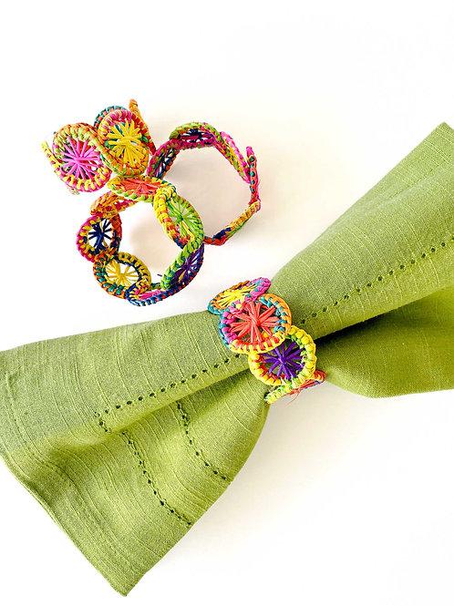 Iraca Multi-Color Napkin Rings