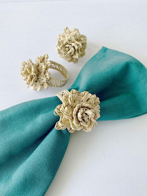 Iraca Flower Napkin Rings