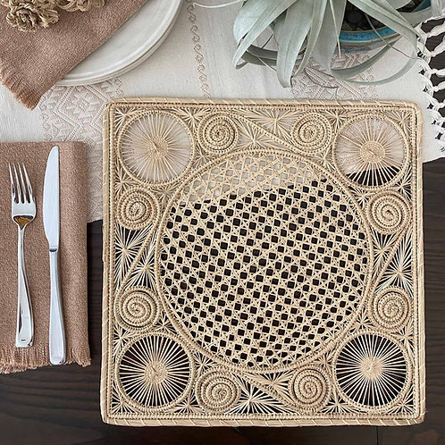 Iraca Caracol Square Placemat