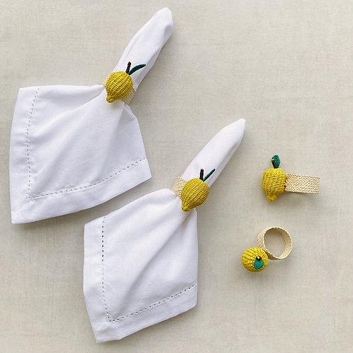 Iraca Lemon Napkin Rings