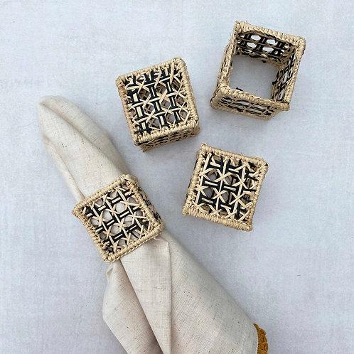 Iraca Square Napkin Rings
