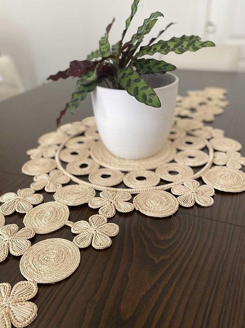 Iraca Flower Table Runner