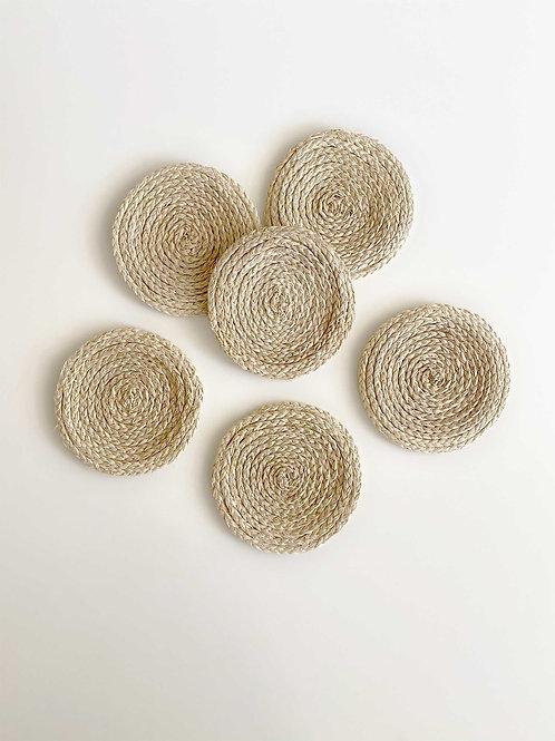 Iraca Spiral Coasters Round