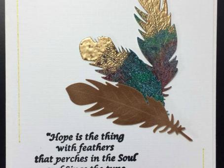 Elizabeth Craft Designs' Feather Dies & Oxide Distress Inks