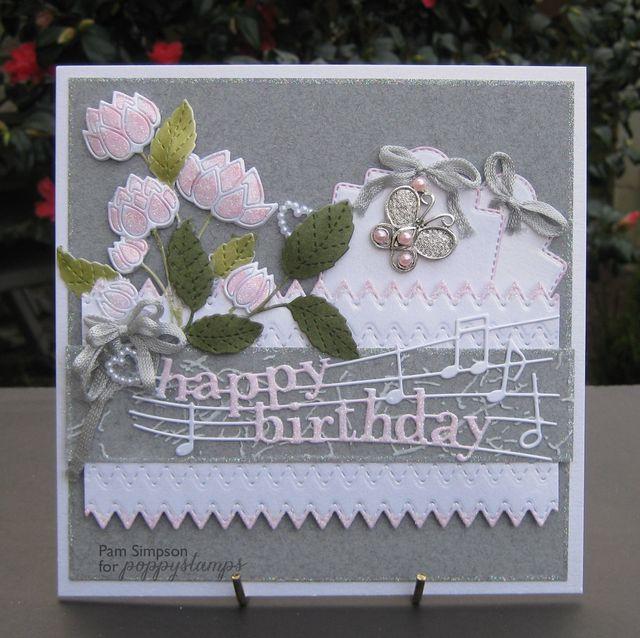 PoppyStamps, Pam Simpson, Happy Birthday