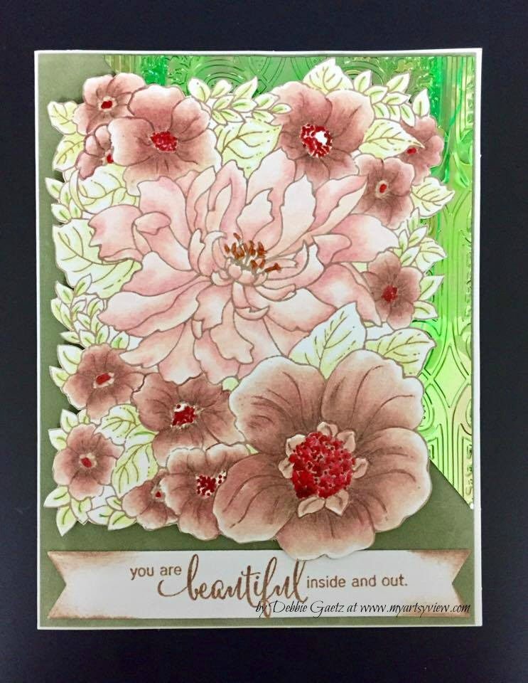 Penny Black Stamps, Elizabeth Craft Designs, Prismacolor Colored Pencils, Sakura, Tsukineko VersaFine Ink