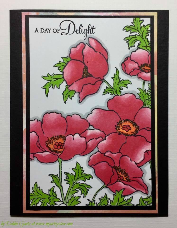 Chameleon Color Tone Pens, Penny Black Stamps, MISTI Stamp Positioner