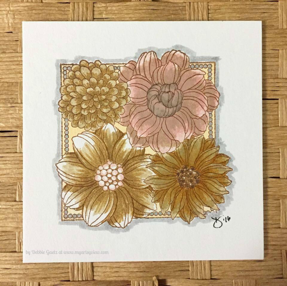 Penny Black Stamps, Inchie Arts, Kuretake Zig Clean Color Real Brush Markers, IMAGINE Crafts, Tsukineko
