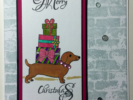Hero Arts, Impression Obsession & Inchie Arts Make a Great Christmas Card