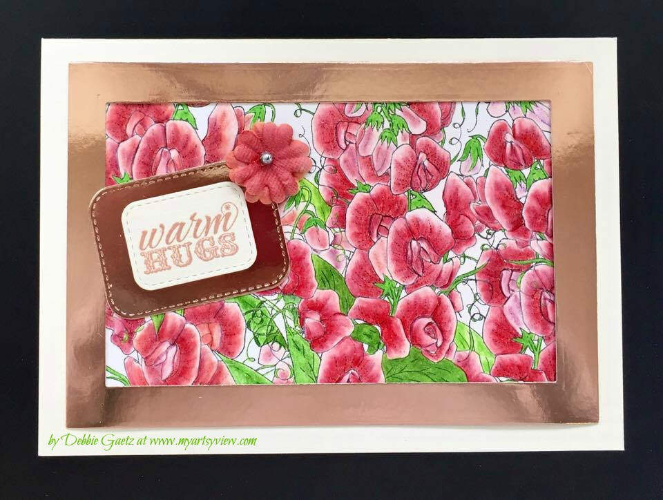 Impression Obsession, Spellbinders, MFT Die-Namics Dies, Prismacolor Coloring Pencils, The Ton Rose Gold Embossing Powder