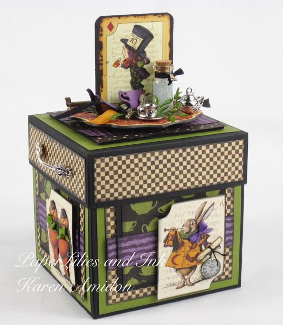 Karen Amidon, Graphic 45 Halloween Project, Explosion Box,