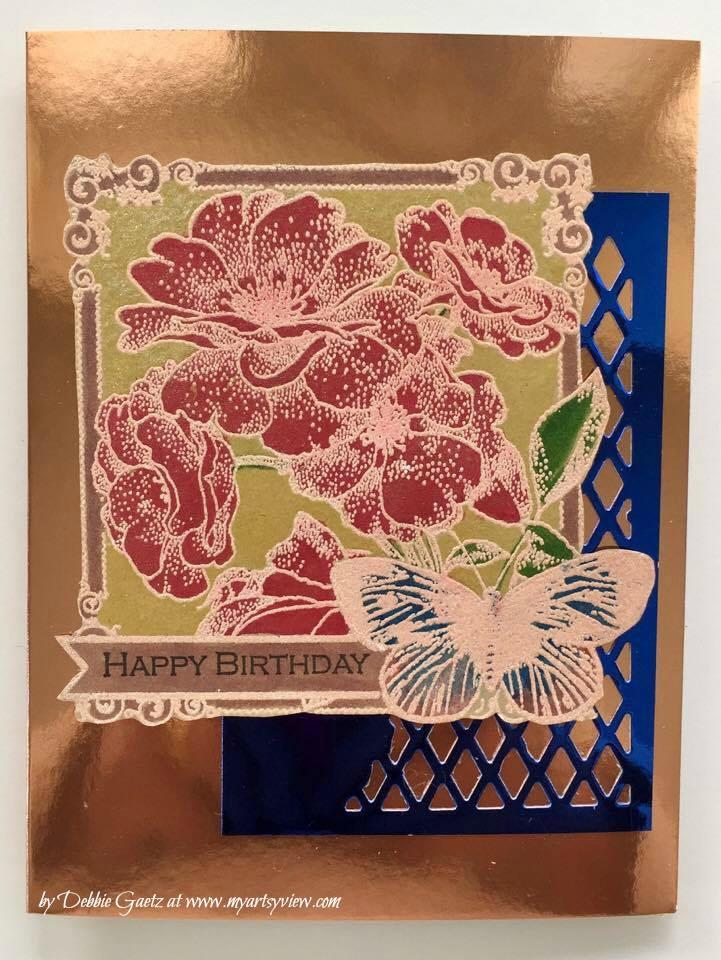 CAS Sketch Challenge #222, Penny Black stamps; Memory Box; Spectrum Noir