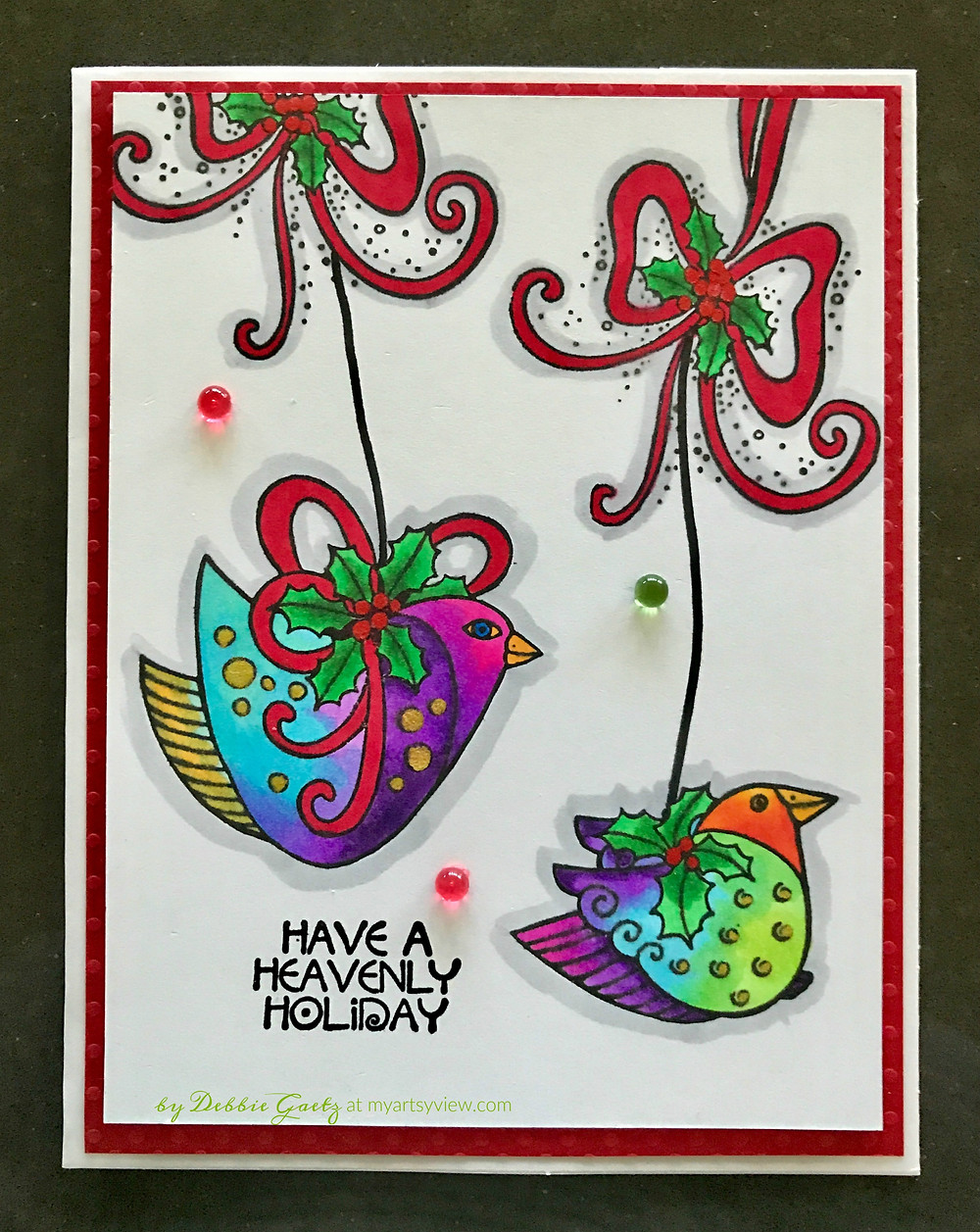 Stampendous Heavenly Holiday Stamp & Die Set LBCLD01