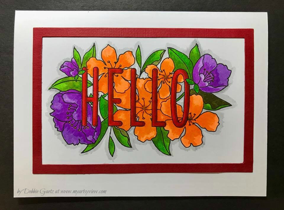 Mama Elephant Stamps, Spellbinders, Zig Clean Color Real Brush Markers, Tim Holtz Stamp Platform, VersaFine ink by Tsukineko