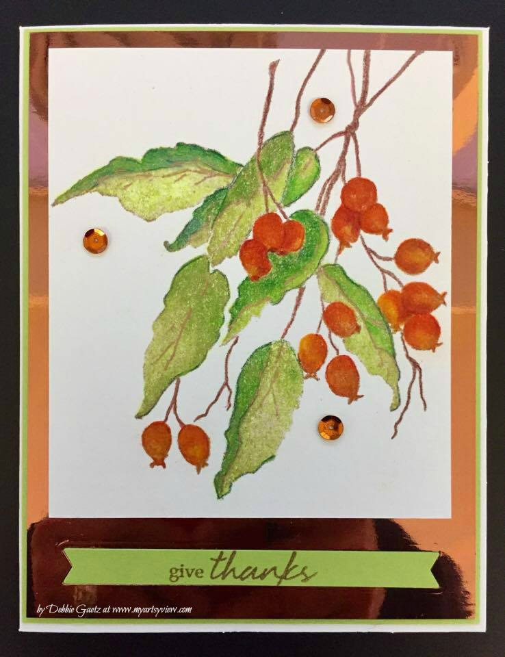 Penny Black Stamps, Caran d'Ache Luminance Colored Pencils