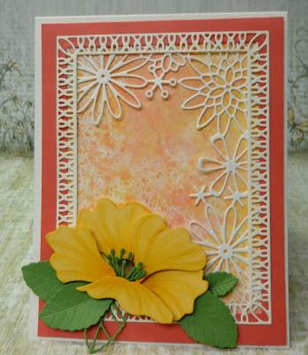 PoppyStamps, Kathy Krug, Die Cuts, Watercolor background, PoppyStamps' Spring Fling Challenge