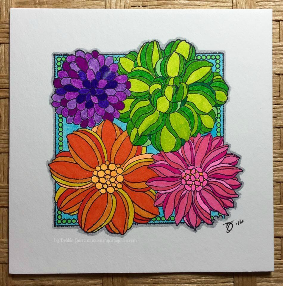 Penny Black Stamps, Inchie Arts, Kuretake, Zig Clean Color Real Brush Pens