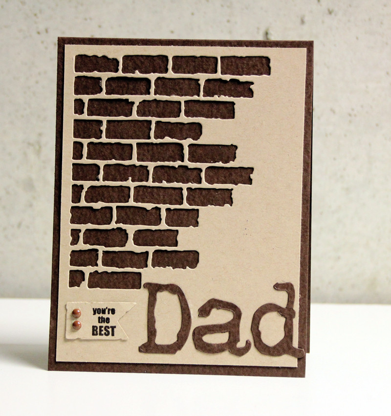 Sizzix, Tim Holtz Thinlits, Tami Mayberry, Father's Day Card
