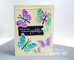 Memory Box, Jean Okimoto, Hovering Butterfly Frame Die