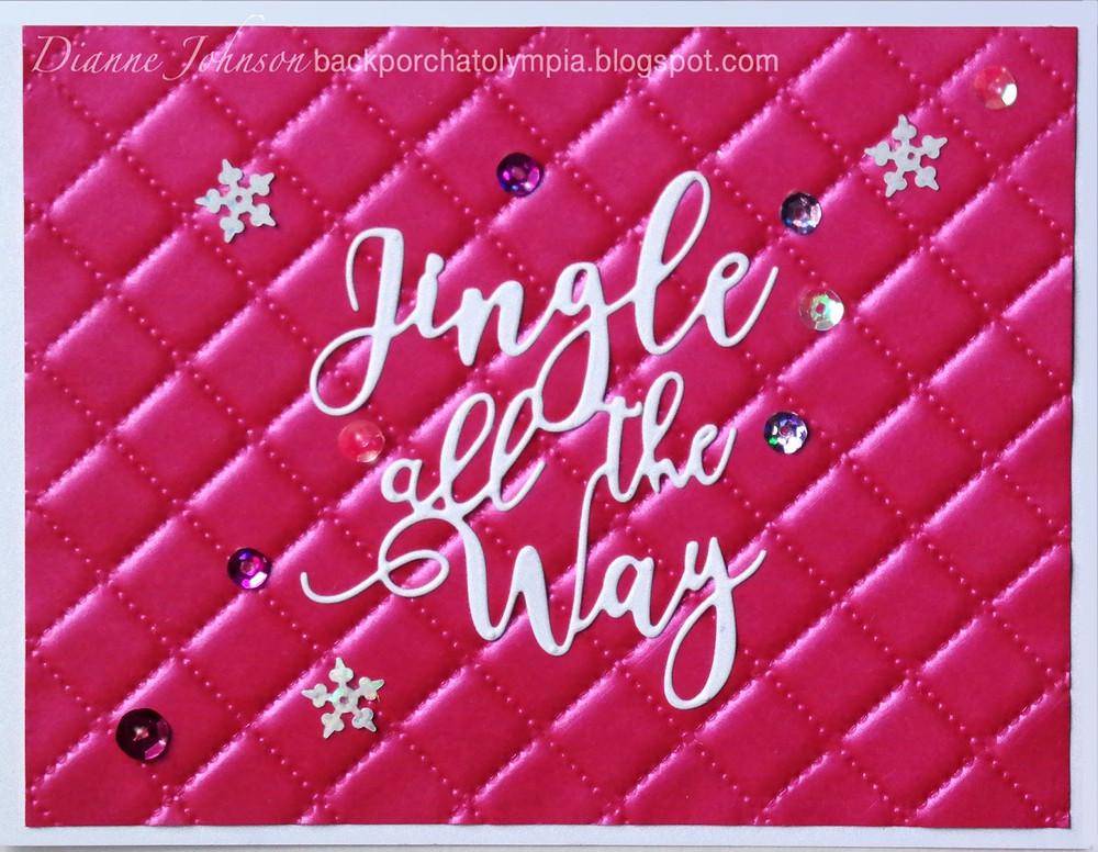 We R Memory Keepers, Next Level Embossing Folder, Art 'n Soul, Dianne Johnson, Christmas, Penny Black