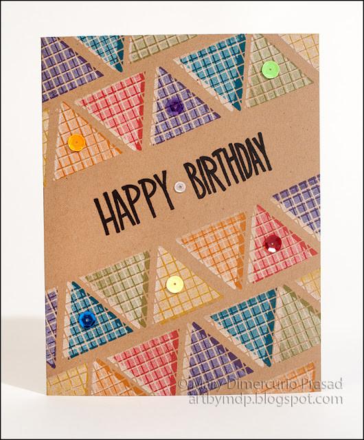 IMAGINE Crafts, Mary Prasad, Happy Birthday, Overstamping