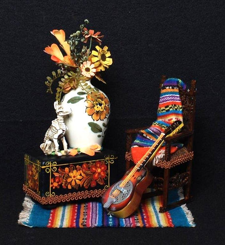 Mexican Folk Trunk and Chair