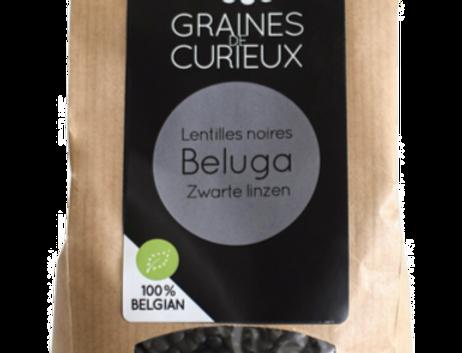 Lentilles Beluga bio - Graines de Curieux -  500Gr